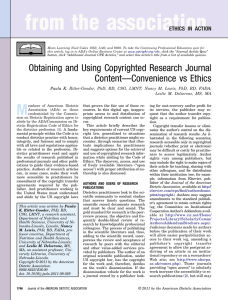 Obtaining and Using Copyrighted Research