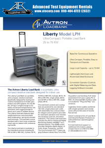 Liberty Model LPH Advanced Test Equipment Rentals