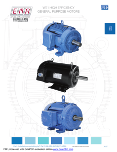 w21 high efficiency general purpose motors