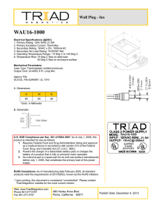 WAU16-1000 - Triad Magnetics