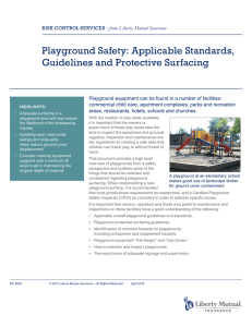 Playground Safety: Applicable Standards, Guidelines and Protective