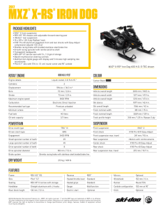 MXZ® X-RS® IRON DOG - Ski-Doo