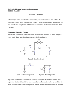 Tutorial 4: Network Theorems