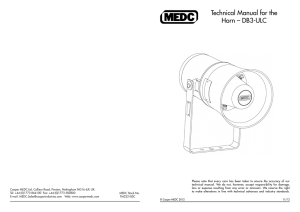 Technical Manual for the Horn – DB3-ULC