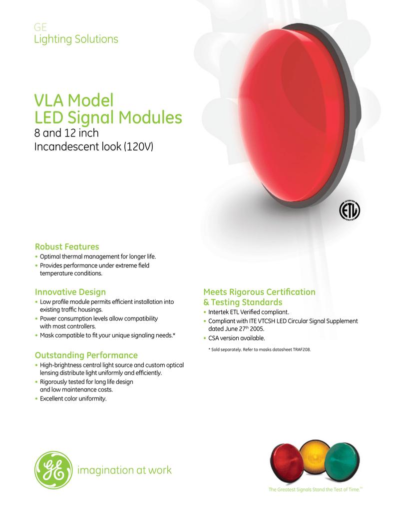 GE LED Transportation Traffic Signal Lighting Round Modules VLA