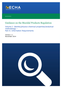 Guidance on the Biocidal Products Regulation - ECHA