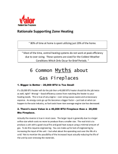 Rationale Supporting Zone Heating