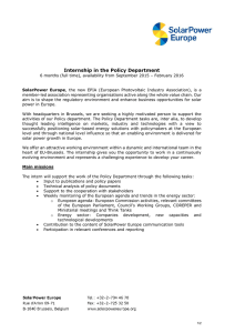 Internship in the Policy Department