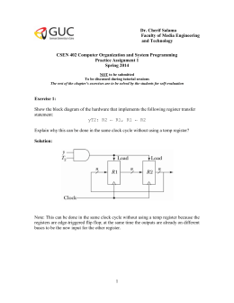 Practice Assignment 1 Solution - Faculty of Media Engineering and