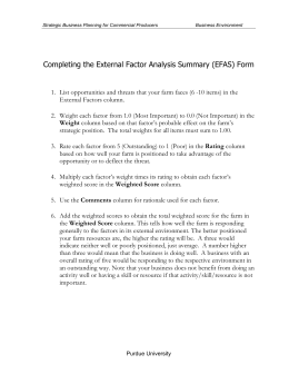 Completing the External Factor Analysis Summary
