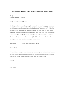Sample Letter: Notice of Repairs Needed