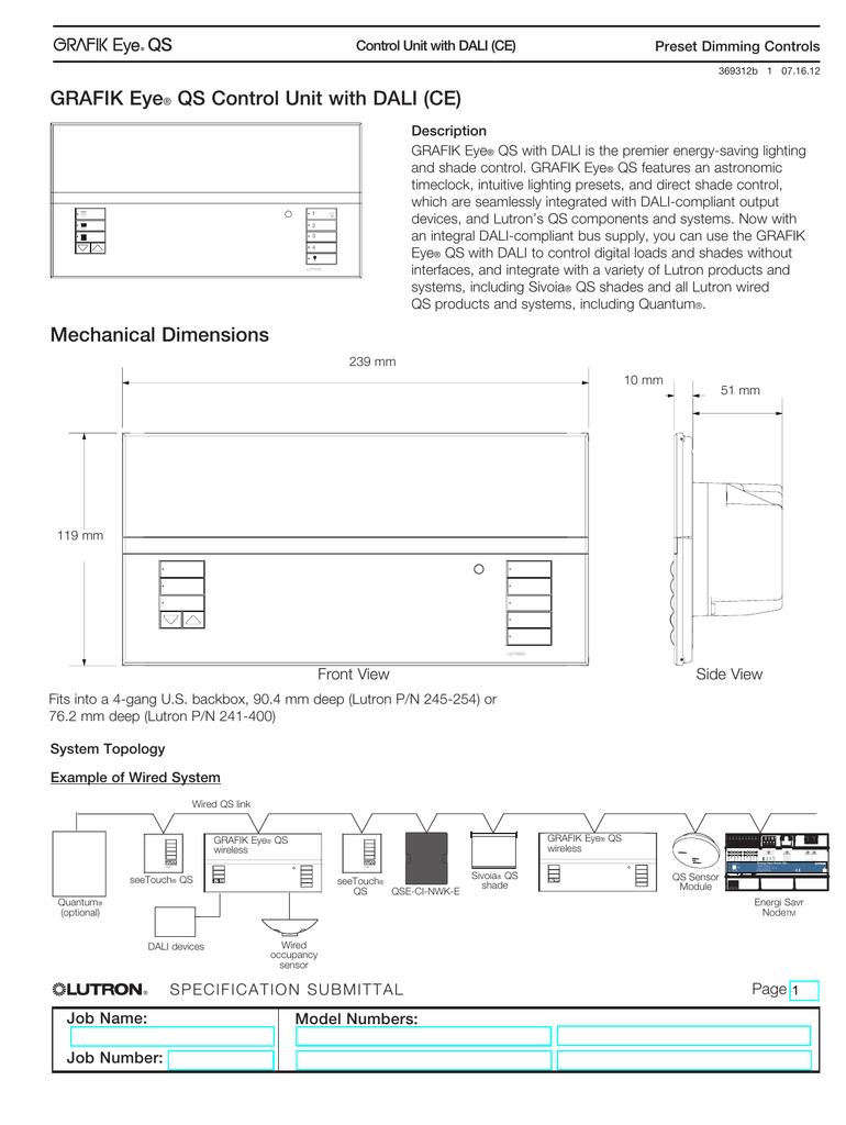 GRAFIK Eye® QS Control Unit with DALI (CE)