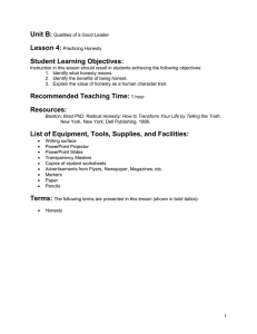 Student Learning Objectives: Recommended Teaching