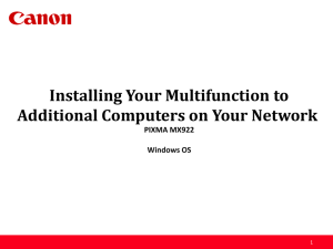 Installing Your Multifunction to Additional Computers on