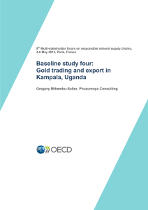 Baseline study four: Gold trading and export in Kampala