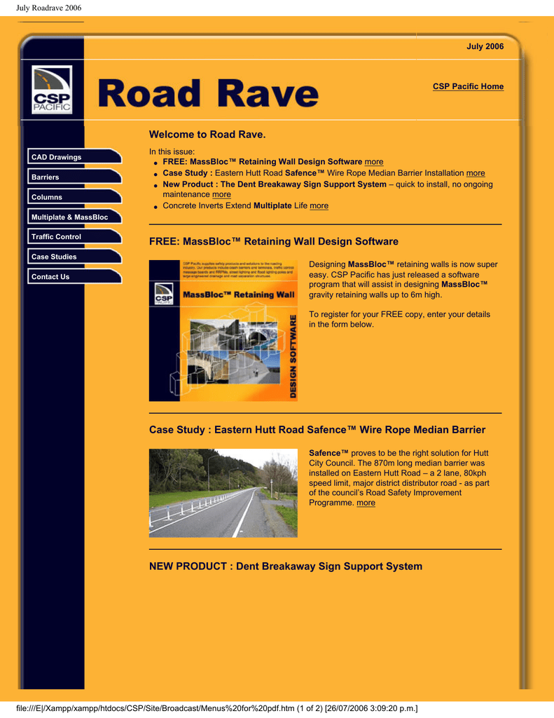 Welcome To Road Rave Free Massbloc Retaining Wall Design