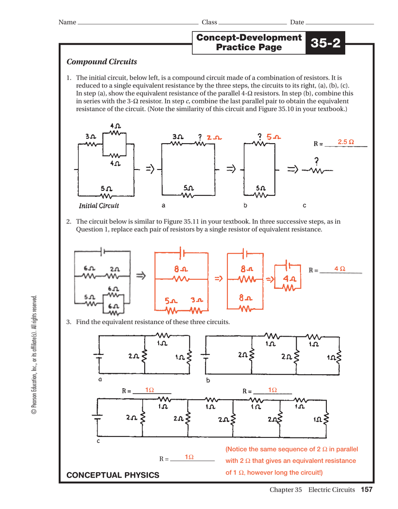 Ws 35 2 Answers Equivalent To Having One 4 Resistor In The Circuit