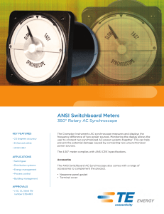 ANSI Switchboard Meters