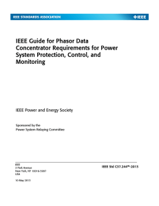 IEEE Std C37.244™-2013, IEEE Guide for Phasor Data