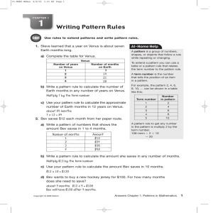 Writing Pattern Rules