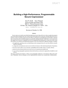 Building a High-Performance, Programmable Secure Coprocessor