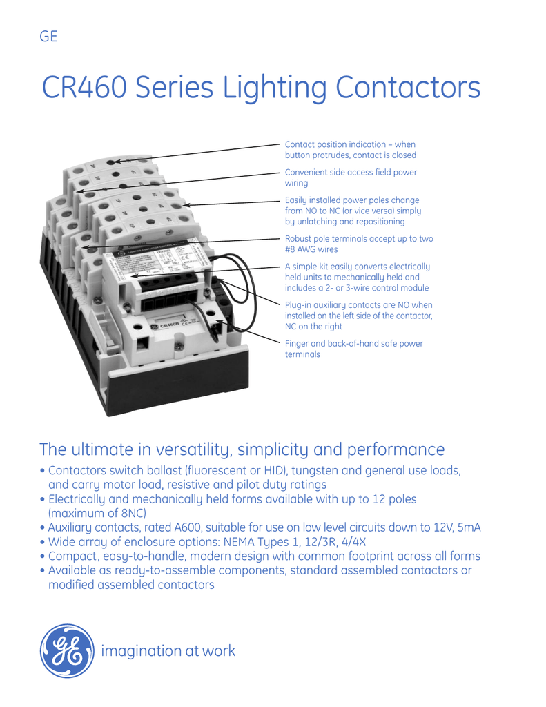 CR460 Series Lighting Contactors on