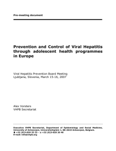 Pre-meeting document - Viral Hepatitis Prevention Board