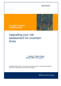 Upgrading your risk assessment for uncertain times