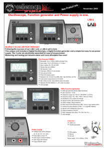 LAB2 Scope generator and supply