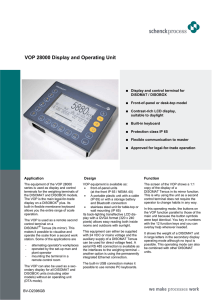 VOP 28000 Display and Operating Unit