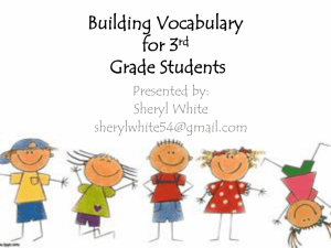 Building Vocabulary Through Text