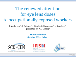 The renewed attention for eye lens doses to occupationally exposed
