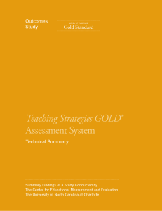 Teaching Strategies GOLD® Assessment System