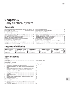 Chapter 12 Body electrical system