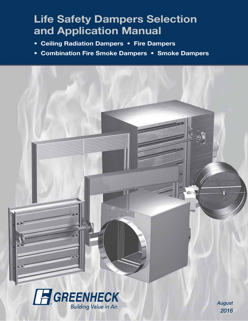 Life Safety Dampers Selection and Application Manual