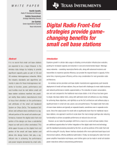 Digital radio front-end strategies provide game