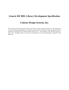 Generic DE HDL Library Development Specification Cadence