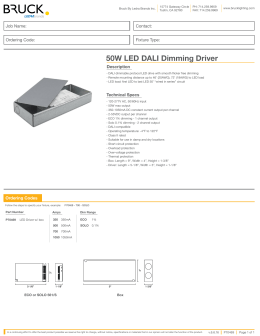 50W LED DALI Dimming Driver