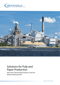 Solutions for Pulp and Paper Production