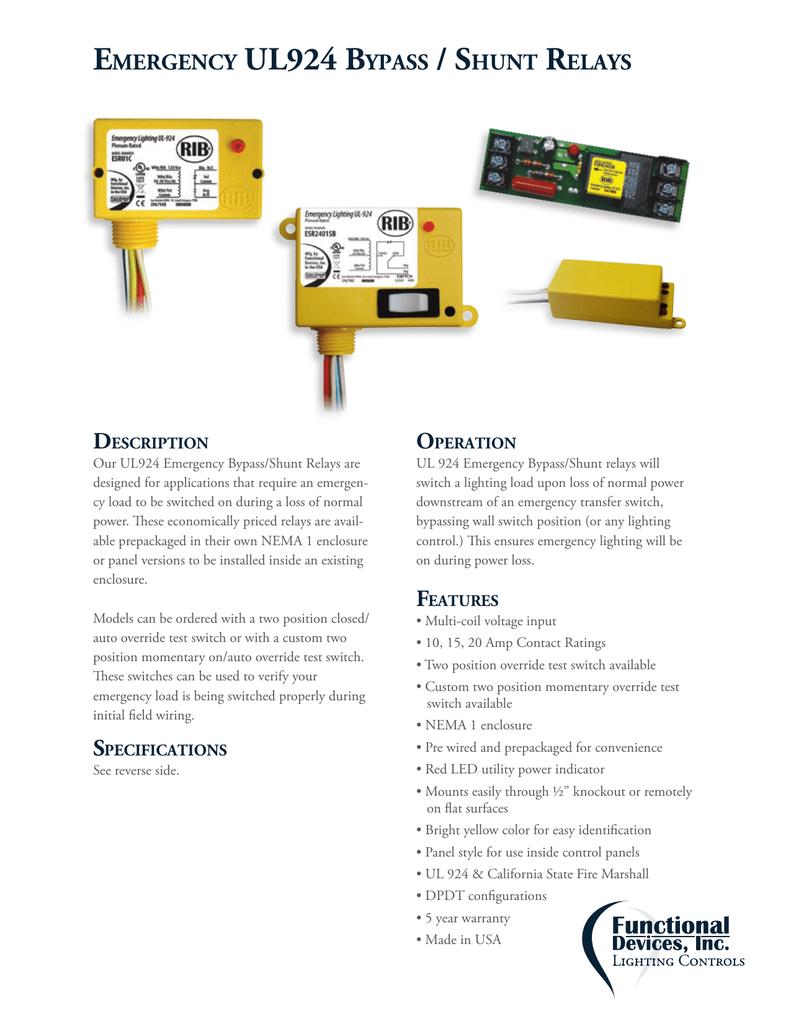 bypass relay wiring diagram emergency ul924 bypass shunt relays  emergency ul924 bypass shunt relays