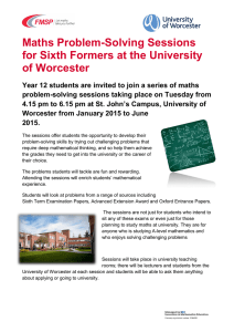 Maths Problem-Solving Sessions for Sixth Formers at the University