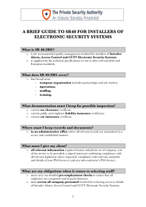 a brief guide to sr40 for installers of electronic security systems