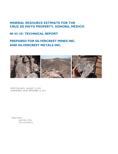 Cruz de Mayo Technical Report, September 2015
