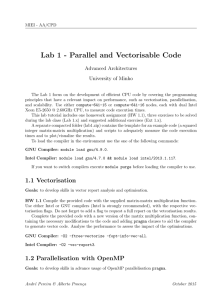 Lab 1 - Parallel and Vectorisable Code