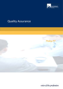 Quality Assurance - Institute of Internal Auditors
