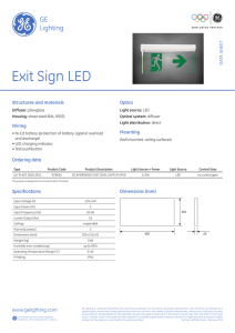 Exit Sign LED