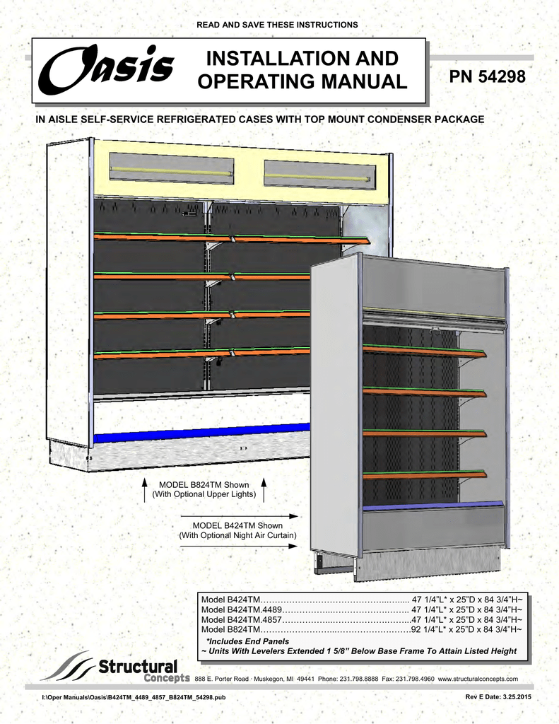 operating manual structural concepts