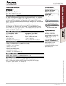 Dynabolt® Sleeve Anchors Technical Data Tension and Shear