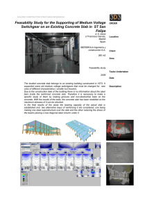Feasability Study for the Supporting of Medium Voltage Switchgear
