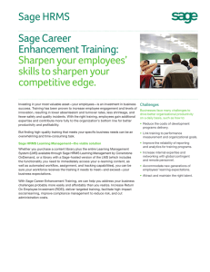 Sage Career Enhancement Training: Sharpen your employees